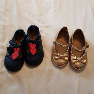 2 pairs of Gymboree shoes size 7